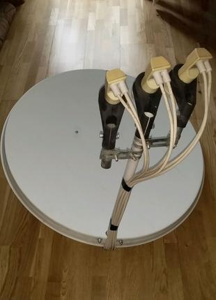 Продам спутниковую тарелку на два ресивера