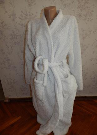 Sanctuary халат плюшевый белый мягкий р one size spa