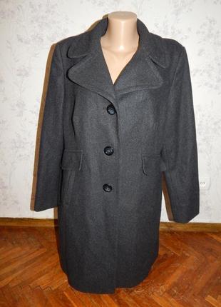 Marks&spencer пальто 47% шерсть стильное модное р18 большой ра...