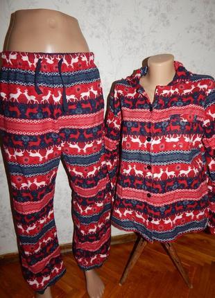 Love to lounge пижама байковая рубашка штанишки р14-16