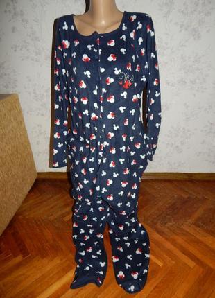 Disney слип флисовый, пижама, человечек р12-14