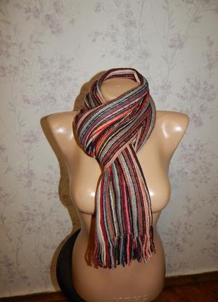 Лаконичный вязаный теплый женский шарф