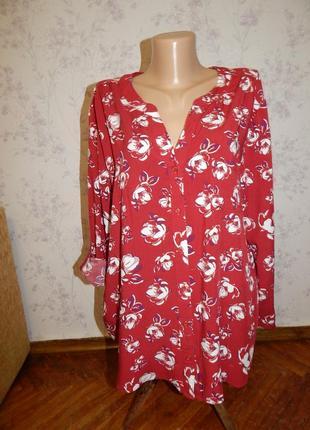 Peacocks блузка стильная модная р18 большой размер