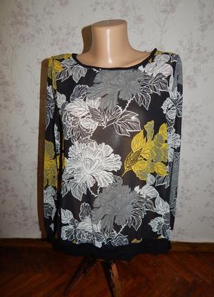 Next блузка вискозная полу-прозрачная стильная модная р8