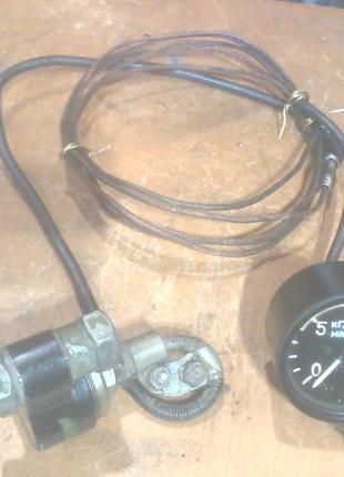 Датчик давления масла в сборе с масляным манометром от 0 до 15 кг