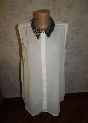 Only блузка шифоновая полу-прозрачная стильная модная р14