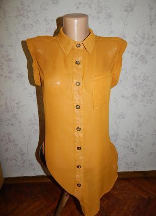 Select блузка шифоновая полу-прозрачная стильная модная р8