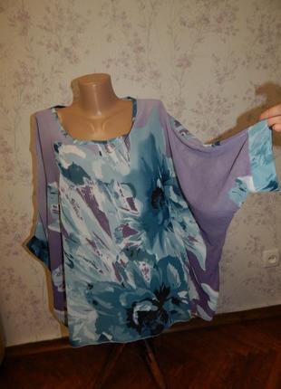 Блузка шифоновая полу-прозрачная стильнаz модная рxl