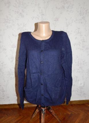 H&m кофта на пуговицах стильная модная женская р l