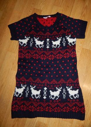 Платье-туника на девочку 12-13 лет