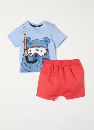 Комплект (шорты, футболка) h&m р.68