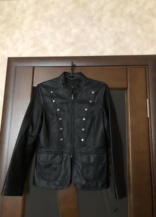 Женская куртка из натуральной кожи от helium англия на наш 46 ...