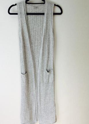 Длинный жилет next с хорошим составом ткани