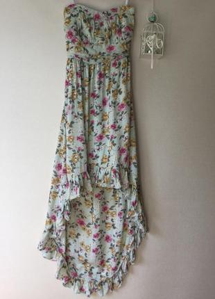 Коктельное платье цветочный принт