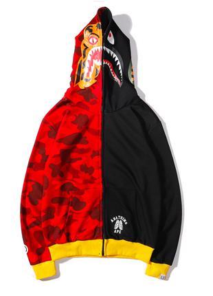 Худи BAPE Tiger Black/Red