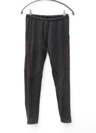 Черные спортивные длинные лосины женская спортивная одежда 🌿