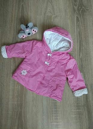 Курточка весна/осень на девочку розовая куртка 3-6 мес.