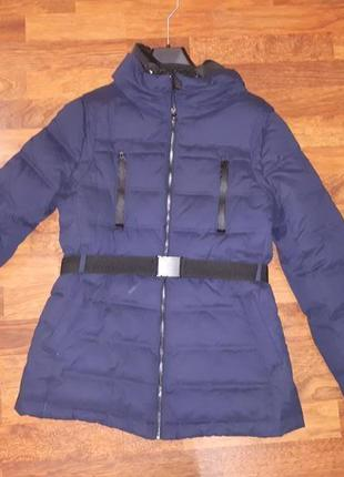 Теплая куртка пуховик mango m