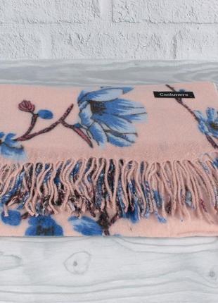 Шикарный кашемировый шарф, палантин cashmere 7580-6 пудра цвет...