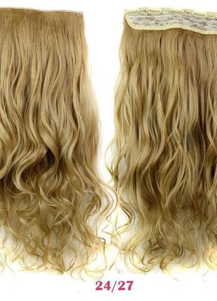 Накладные волосы на заколках затылочная прядь 114