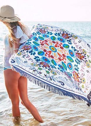 Пляжний килимок коврик подстилка на пляж настенный гобелен дек...