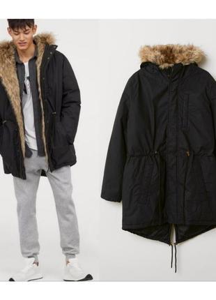 Мужская тёплая зимняя парка,тёплая куртка на зиму