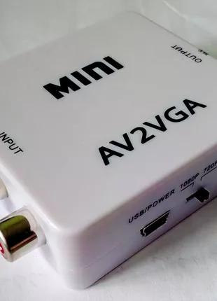 Видеоконвертер с AV на VGA переходник видео конвертер с RCA в VGA