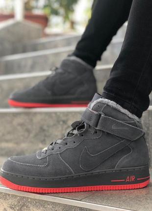 Шикарные мужские зимние кроссовки/ ботинки nike air force 1 gr...