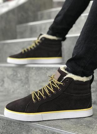 Шикарные мужские зимние кроссовки/ кеды adidas brown fur 😍 {с ...
