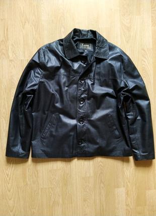 Куртка кожаная бомбер аргентинская Love