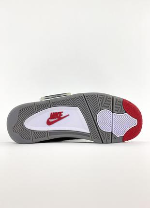 "Кроссовки Off-White x Air Jordan 4 ""Bred"" Black/Red"