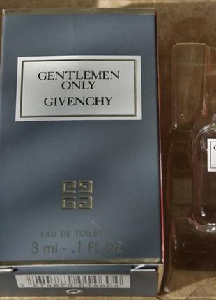 Парфюм миниатюра gentlemen only givenchy оригинал франция