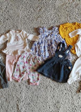 Одежда для девочки на 0-3 месяца, пакет одежды для девочки