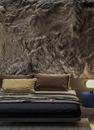 Штамп на стене, фактура камня, имитация скалы в интерьерах