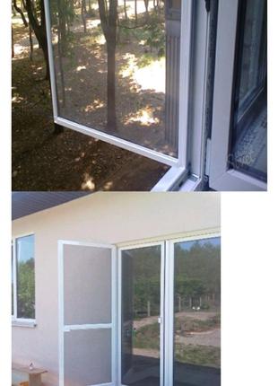 Установка и изготовления москитных сеток на окна и двери