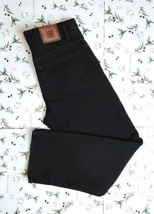 Качественные черные плотные прямые мужские джинсы marks&spence...