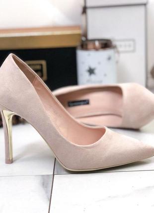 ❤ женские бежевые туфли лодочки ❤