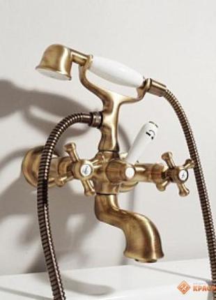 Смеситель для ванны Zucchetti Delfiflu Бронза. Италия! Супер ц...