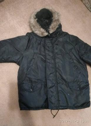 Мужская зимняя куртка (парка) очень тёплая