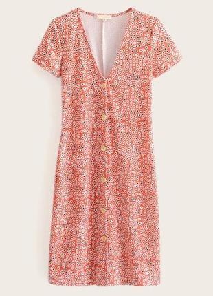 Платье с цветочным принтом и пуговицами впереди от zara