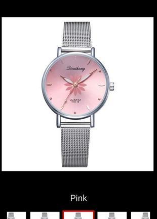 Часы на браслете, цепочке, металлический ремешок