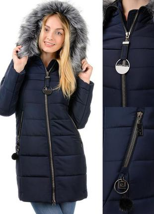 Зимний пуховик,пальто женское с меховой опушкой,молодежное