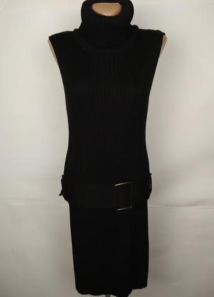 Платье новое шерстяное под горло теплое плотное 100% мериносов...