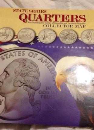 Альбом с монетами США 25 центов