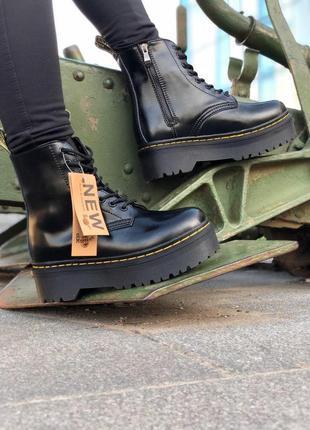 Женские кожаные ботинки/ сапоги/ угги dr. martens на платформе...