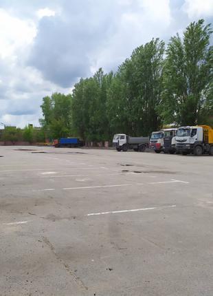 Выдубичи Аренда стоянки для грузовых легковых авто TIR бус Охрана