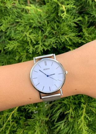 Наручные женские тонкие часы geneva с металлическим ремешком с...