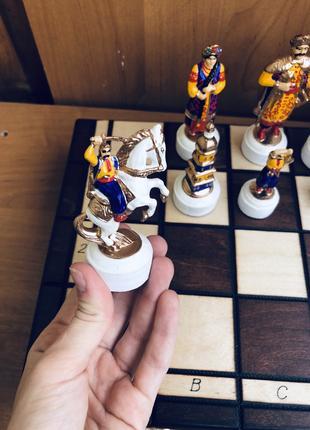 Шахматы ручной работы Казаки Козаки Хмельницкий