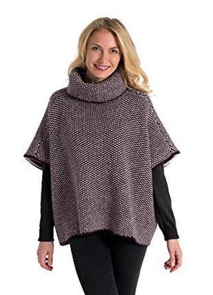100% шерсть от woolovers  пончо свитер  s-l