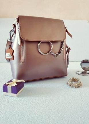 Сумка женская кожаная рюкзак кожа